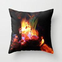 Colorful Fire #3 Throw Pillow by 2sweet4words Designs | Society6