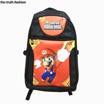 Super Mario party nes switch Large Capacity  Laptop Bag Man Backpack Bag One Piece lufy Backpack women School Bags Mochila Masculina AT_80_8