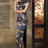 Floral Lace Sheath Qipao Dress