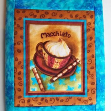 Quilted Coffee Journal Cover - Macchiato