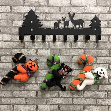 New Door Hanging Ornament Halloween Decor Doll Home Supplies Party Decoration pumpkin ghost black cat Doll