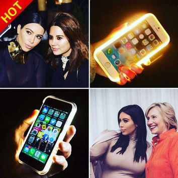 Luminous LED Light Selfie iPhone Case Cover Watch Gift