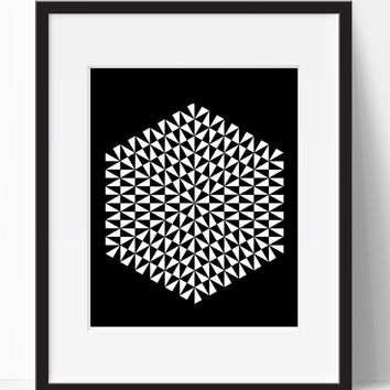 Black Home Decor, Instant Print, Wall Art, Black White, Wall Decor, For The Home, Living Room Art, Digital Print, Printable Wall Art