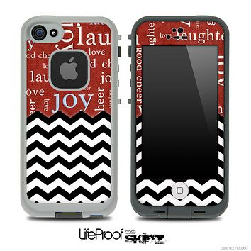 Mixed Love Wallpaper and Chevron Pattern Skin for the iPhone 5 or 4/4s LifeProof Case