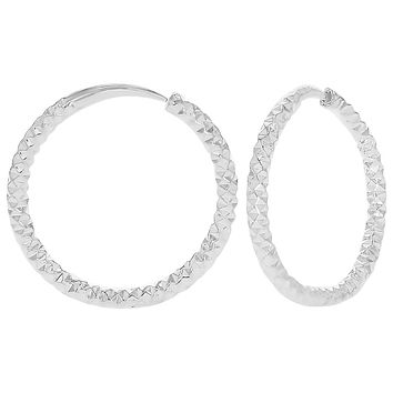 XS Tiny Endless Thin Textured Hoop Girl Teen Earrings 8mm