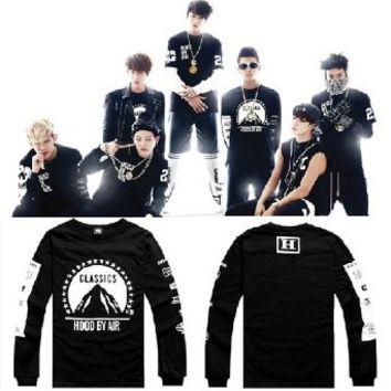 KPOP BTS Sweater Monster JIN SUGA JIMIN V Round Rollar Fleece Unisex Sweatershirt
