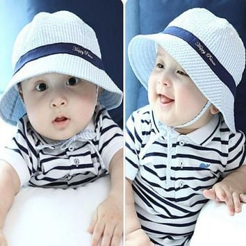 Fashion Toddler Infant Beach Hat Sun Cap Baby Girl Boys Beach Bucket Hat Hot Sun cap Fashion Accessories