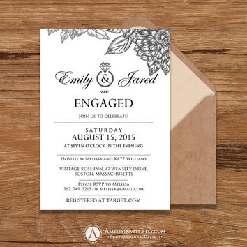 Engagement party invitation, rustic engagement party invitation, engagement party invitation printable, engagement party, INSTANT DOWNLOAD