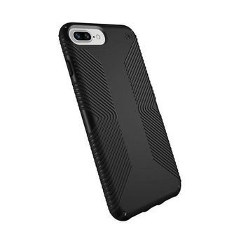 CREYV2S Speck Products Presidio Grip Case for iPhone 8 Plus (Also fits 7 Plus and 6S/6 Plus), Black/Black