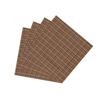 Green & Ginger & Red Plaid Napkin Set of 4