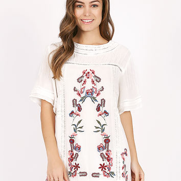 North Side Villa Embroidered Dress