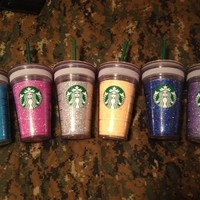 Starbucks grande 16 oz glitter cups!!! You choose color!!!:Amazon:Everything Else