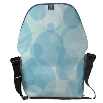 Blue Bubbles Messenger Bag