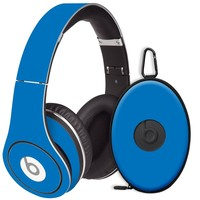 Blue Decal Skin for Beats Studio Headphones & Carrying Case by Dr. Dre