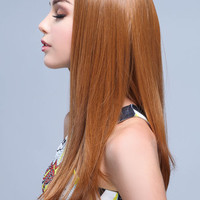 SIDE PART NATURAL WAVES SYNTHETIC FULL WIG