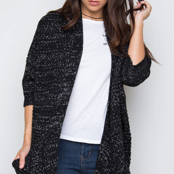 Warm Reflections Knit Cardigan - Charcoal