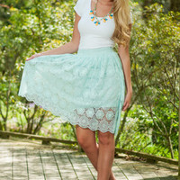 Wonderful World Skirt, Aqua