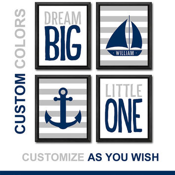 nautical kid art nursery decor dream big little one nursery gift ideas gift for new parents sail boat nursery baby nursery print boy nursery