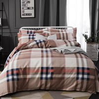 Modern Geometric Bedding Set Twin Queen King Size Duvet Cover with Pillowcases 3Pcs Single Double Bed Linen Soft Bed Cover Set