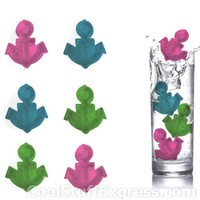 Anchor Shaped Reusable Ice Cubes