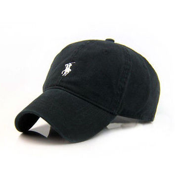 Polo Fine Embroidery Small Classic Unisex Baseball Adjustable Hats Cap