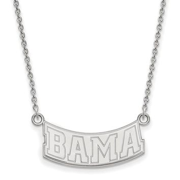 Bama Necklace in Rhodium Flashed Sterling Silver - Lobster Claw Cable