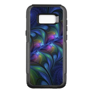 Colorful Luminous Abstract Blue Pink Green Fractal OtterBox Commuter Samsung Galaxy S8+ Case