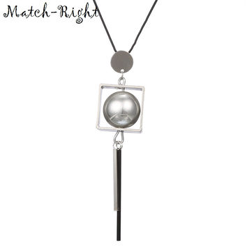 Match-Right Women Necklace Long Necklaces & Pendants Ball Necklace For Women Jewelry YJZ-200