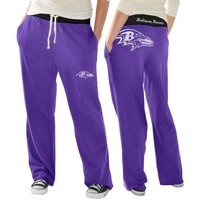 Baltimore Ravens Ladies Recruit Fleece Pants - Purple