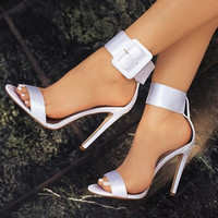 Fashion Women Sandals Hot Buckle Ankle Strap Pumps Women High Heels Shoes