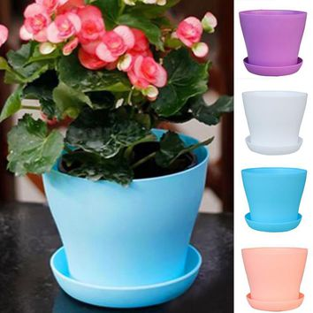 PP Resin Indoor Outdoor Garden Plant Flower Pot Balcony Plastic Planter Patio Home Decor flower pot