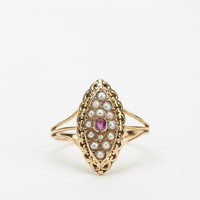 Vintage Pearl & Garnet Ring - Urban Outfitters