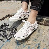 Vans Old Skool White Low Top Men Flats Shoes Canvas Sneakers WoMensport Shoes