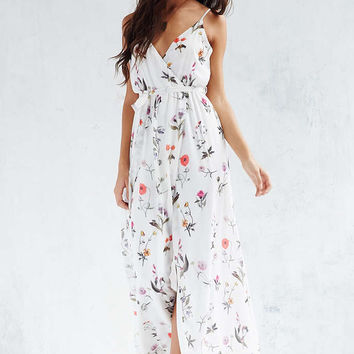 Oh My Love Floral Chiffon Maxi Dress - Urban Outfitters