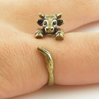 Gold Cow - Animal Wrap Ring