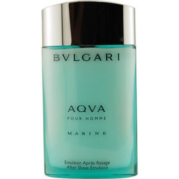 Bvlgari Aqua Marine By Bvlgari Aftershave Emulsion 3.4 Oz (glass Bottle)