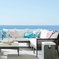 CAMMERAY ALL-WEATHER WICKER SECTIONAL SET