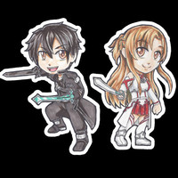 Sword Art Online Chibi Stickers (single)