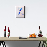 Bull Terrier Decor: Bull Terrier, original art, hand-signed, unique piece, bull terrier gift,  hand made Pop Art illustration