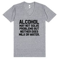 Alcohol-Unisex Athletic Grey T-Shirt
