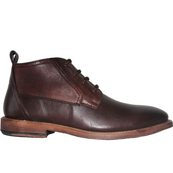 Kixters Albert - Antique Dark Brown Oil Chukka Boot