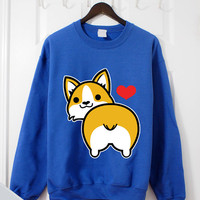 I love Corgi Butt Crewneck Sweatshirt