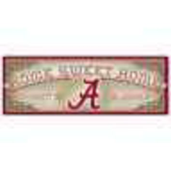 "ALABAMA CRIMSON TIDE HOME SWEET HOME WOOD SIGN 6""X17'' BRAND NEW WINCRAFT"