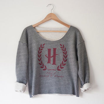 Hogwarts School of Witchcraft & Wizardry Athletic Crop Sweatshirt - An American Apparel top - Made in USA