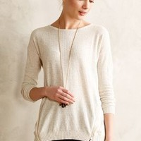 Zipside Pullover by Anthropologie Ivory