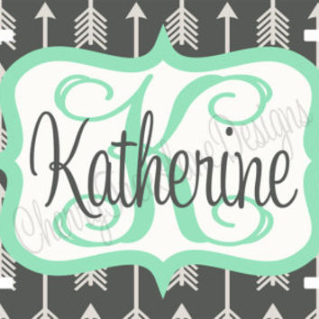 Personalized License Plate - Tribal Car Tag - Monogram Car Tag - Car License Plate - Design Your Own - Sweet 16 Gift