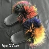 Confetti Fur Slippers