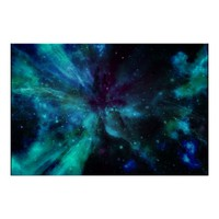 Shades Of Blue Nebula Poster
