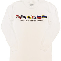 United 'Nautical Flags' Long Sleeve Tee⛵️
