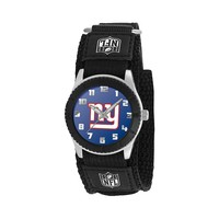 Game Time Rookie Series New York Giants Silver Tone Watch - NFL-ROB-NYG - Kids (Black)